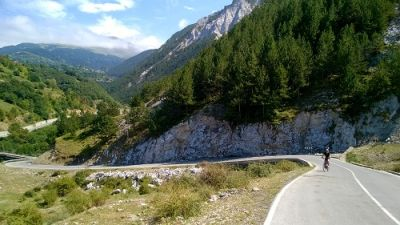 Bryan Crosland Cycling on the Albania - North to South tour with redspokes