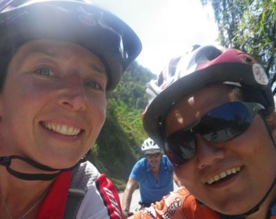 BeeJay Cycling on the Nepal tour with redspokes