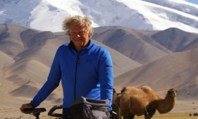Nick Tompsett Cycling on the Karakoram Highway to Kyrgyzstan tour with redspokes