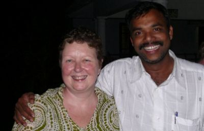 Mary Howden Cycling on the India - Kerala tour with redspokes