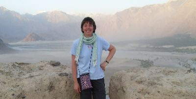 Jane Evans Cycling on the Karakoram Highway to Kyrgyzstan tour with redspokes