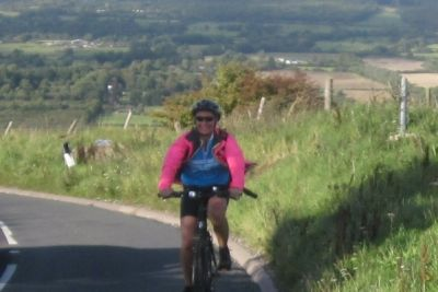 Heather Weaver Cycling on the Brighton tour with redspokes