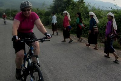 Julie Saunders Cycling on the Burma - Mountains, Beaches & Stupas tour with redspokes