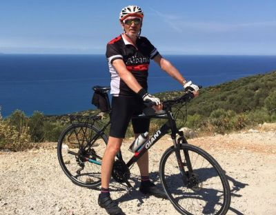 Kevin Thomasson Cycling on the Albania - North to South tour with redspokes