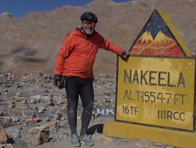 Mike Litchfield Cycling on the India : Spiti - Ladakh tour with redspokes