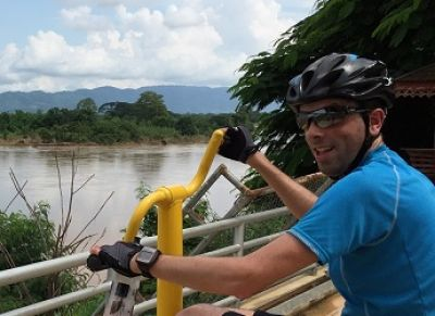 Neil Kelly Cycling on the Thailand & Laos tour with redspokes