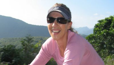 Olivia Slee Cycling on the Thailand & Laos tour with redspokes