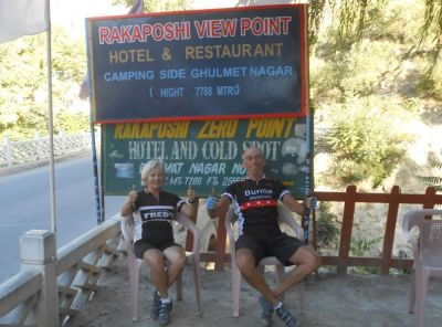 Pat and Keith Green Cycling on the  tour with redspokes