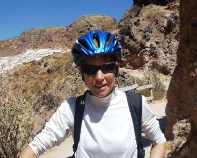 Patricia Caro Cycling on the  tour with redspokes