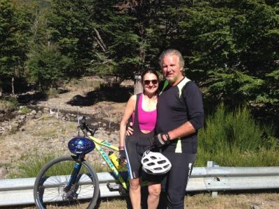 Violando and Richard Percival Cycling on the Chile & Argentina tour with redspokes