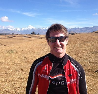 Phillip McNeill Cycling on the  tour with redspokes