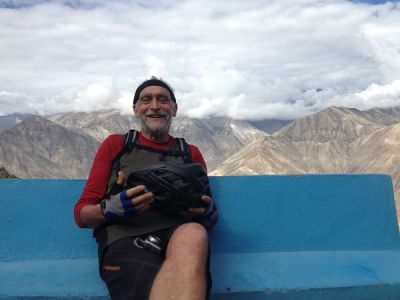 Peter Dilks Cycling on the India : Spiti - Ladakh tour with redspokes