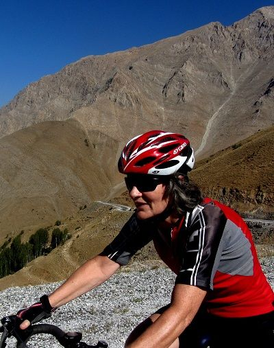 Rita Gough Cycling on the Turkey - Kurdistan tour with redspokes