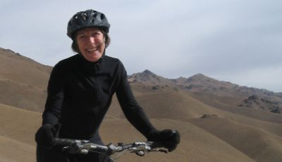 Rose Mary Owen Cycling on the Karakoram Highway to Kyrgyzstan tour with redspokes
