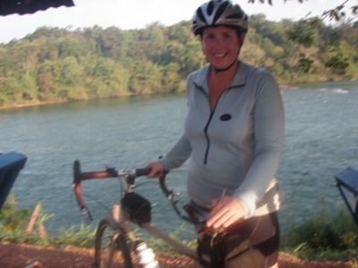Sarah Cutts Cycling on the  tour with redspokes