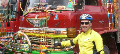 Tom Carolan Cycling on the  tour with redspokes