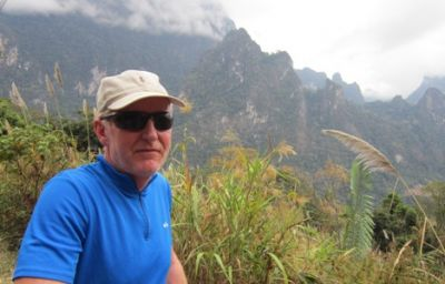 Anthony Chadwick Cycling on the Thailand & Laos tour with redspokes